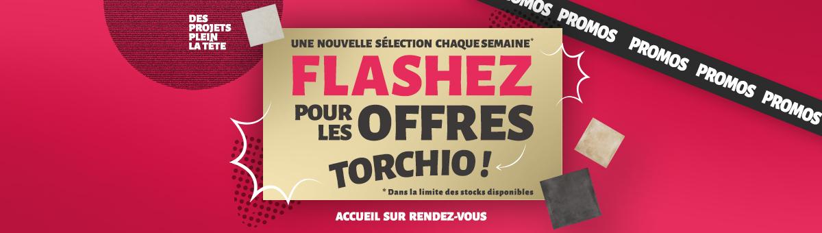 Flashez pour les offres Torchio !